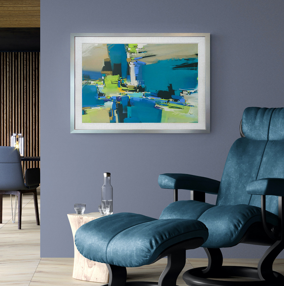 Nocturn in Blues on wall #2