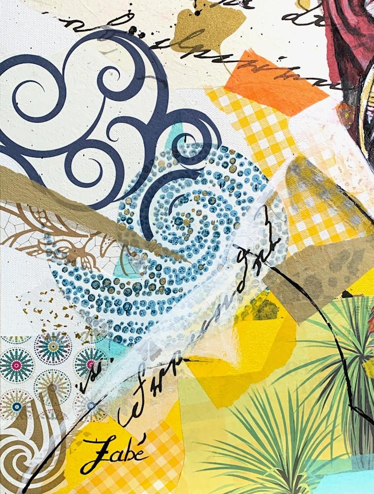 24x30 zabe arts strong women amanda gorman collage painting signature
