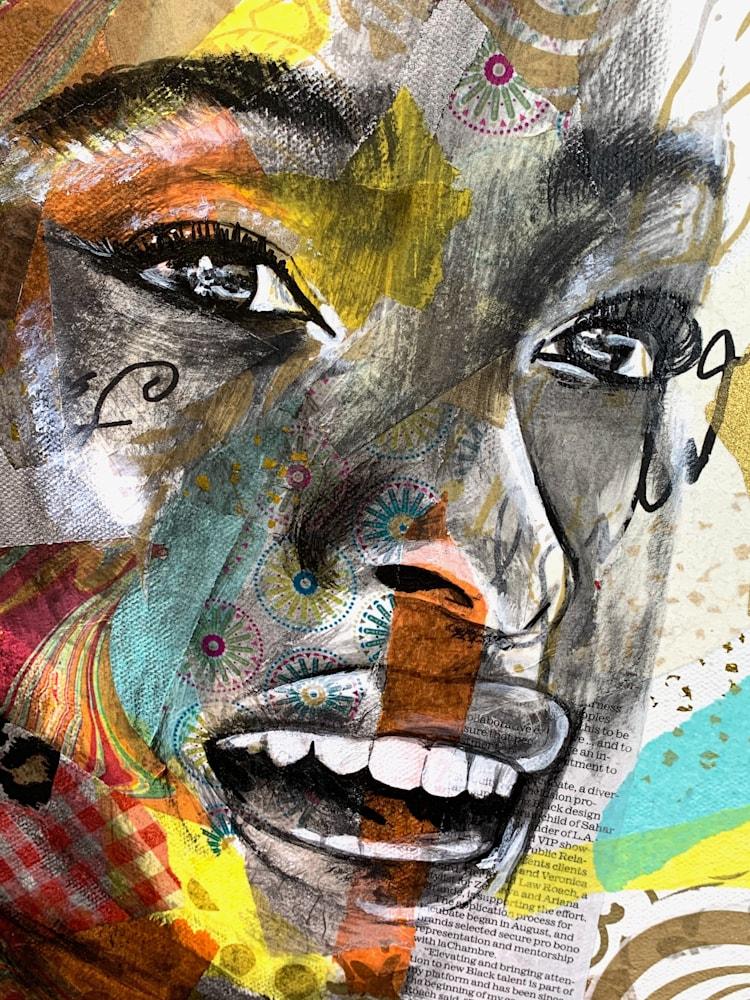 24x30 zabe arts strong women amanda gorman collage painting zoom face