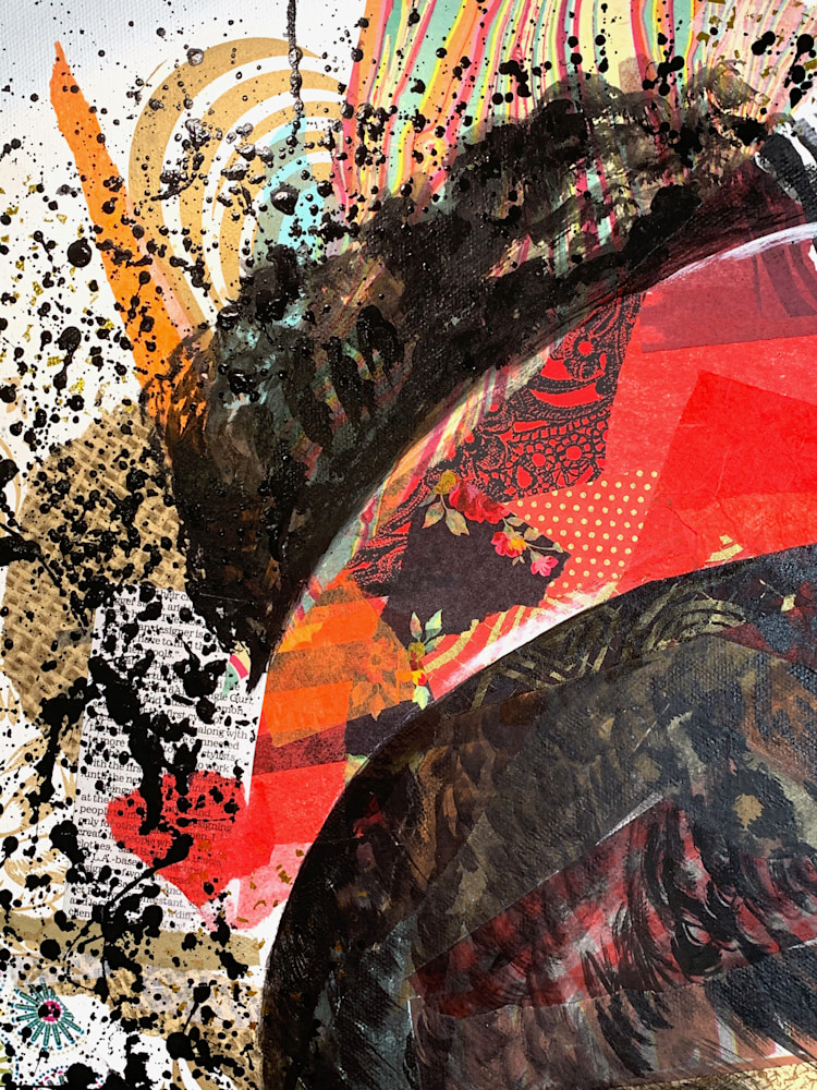 24x30 zabe arts strong women amanda gorman collage painting left corner