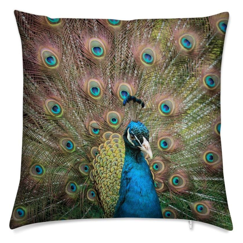 My Eyes on You Throw Pillow (Back)