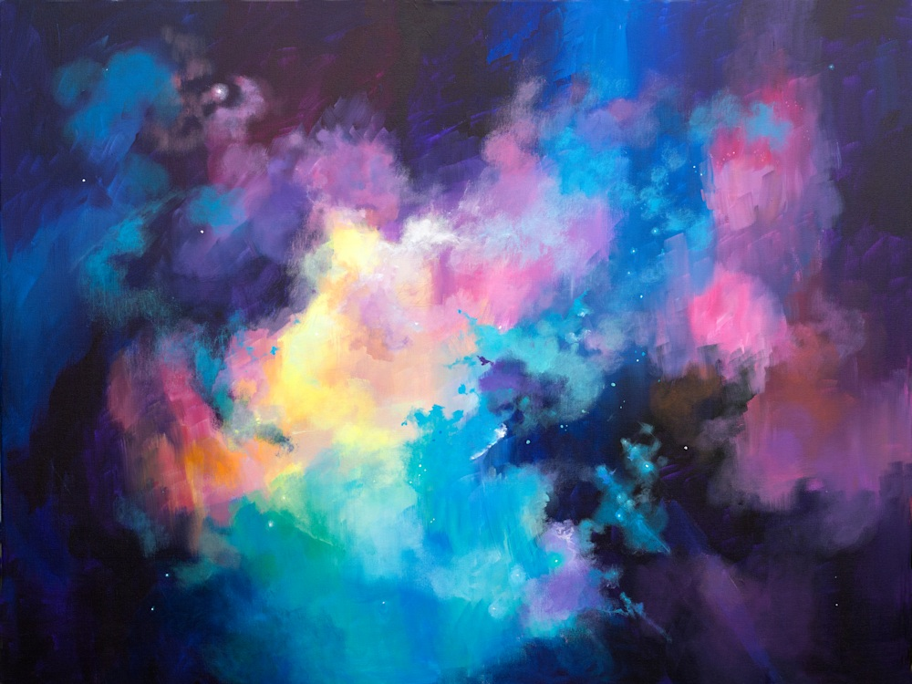 hubble inspired painting