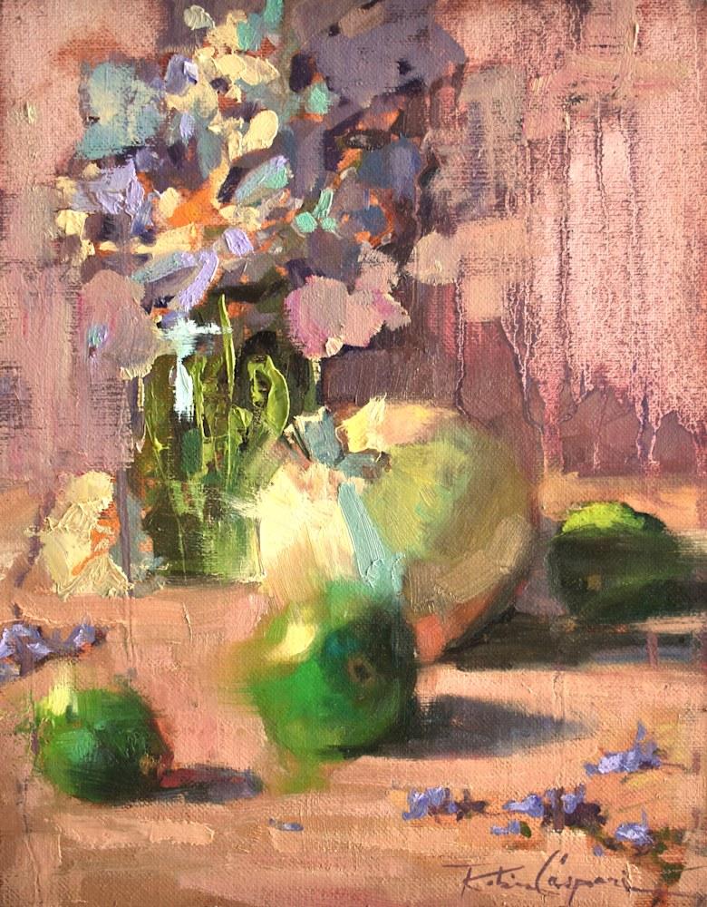 Marie's Palette, 11x14, Plein Air Oil, 2021