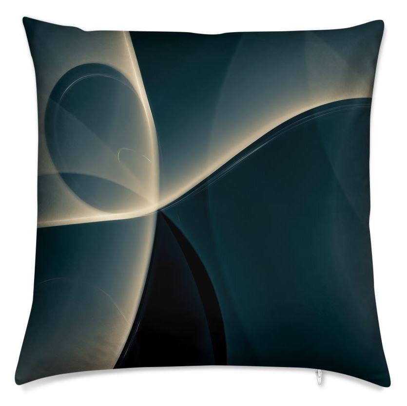 Light Dance Throw Pillow (Back)