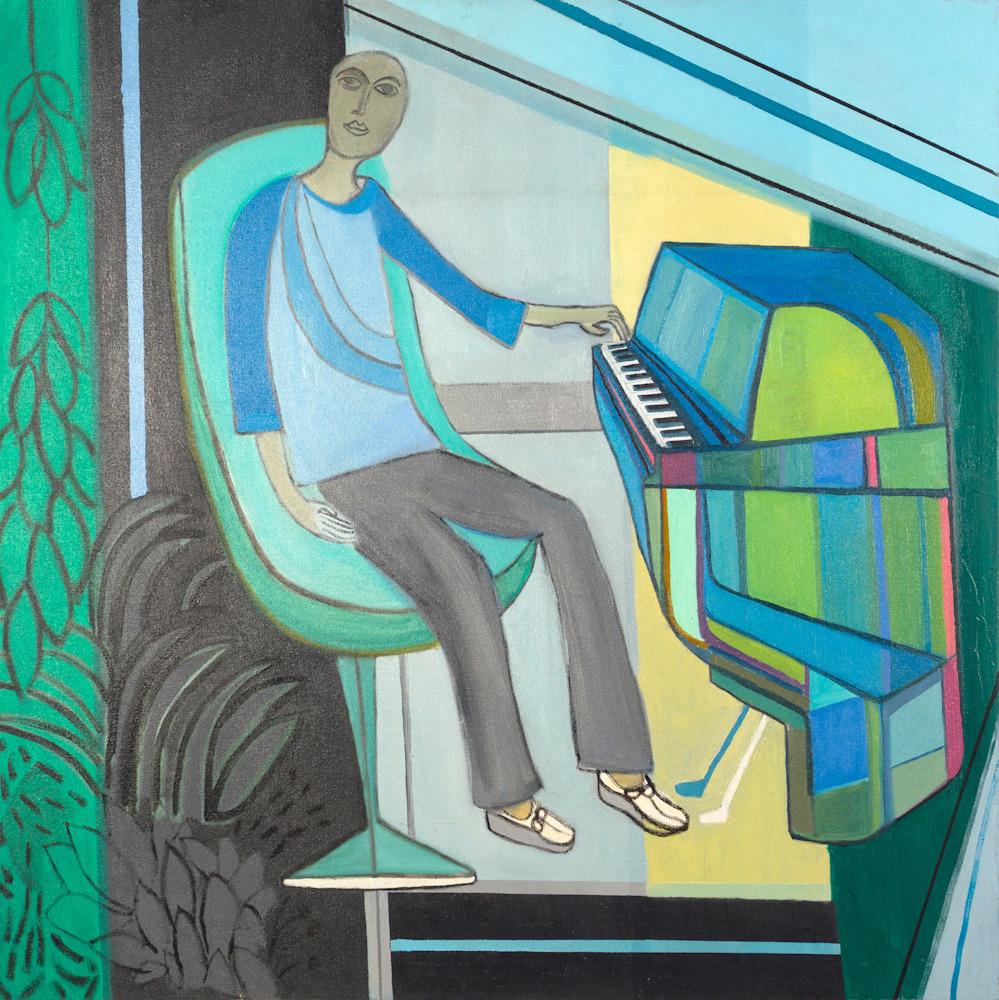 PIANO MAN (2015) 36X36inches DSC0448