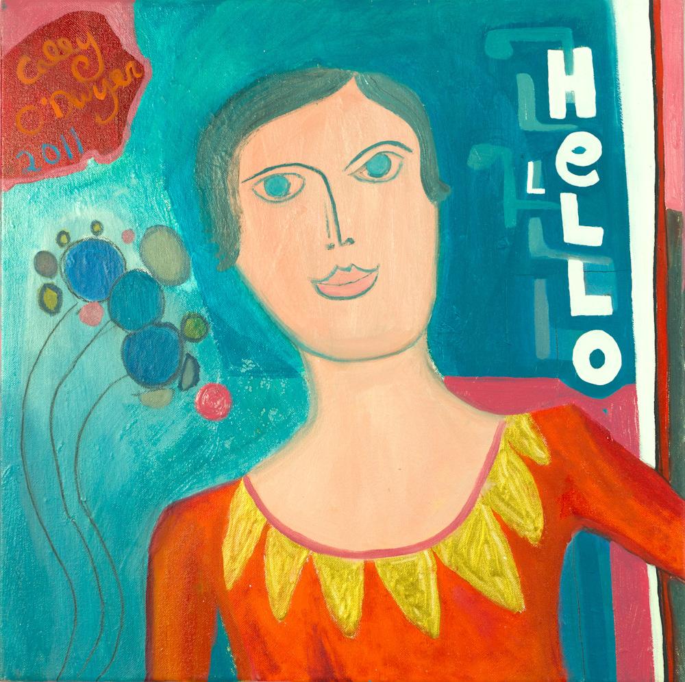 HELLO(2011) 20x20inches CaleyODwyer DSC0445
