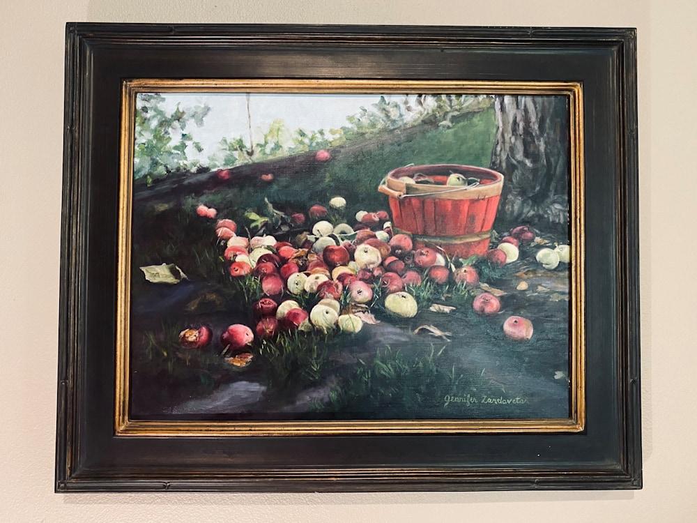 Apples framed