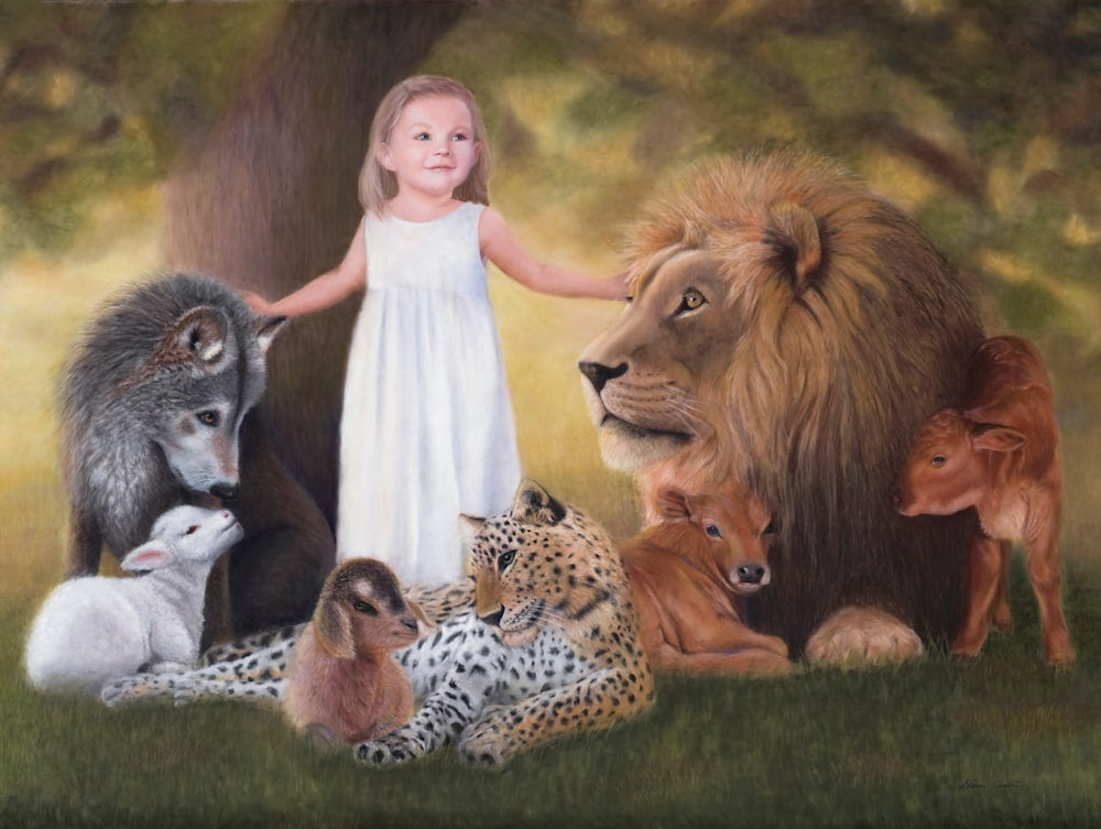 HIS PEACEABLE KINGDOM edited for Giclee