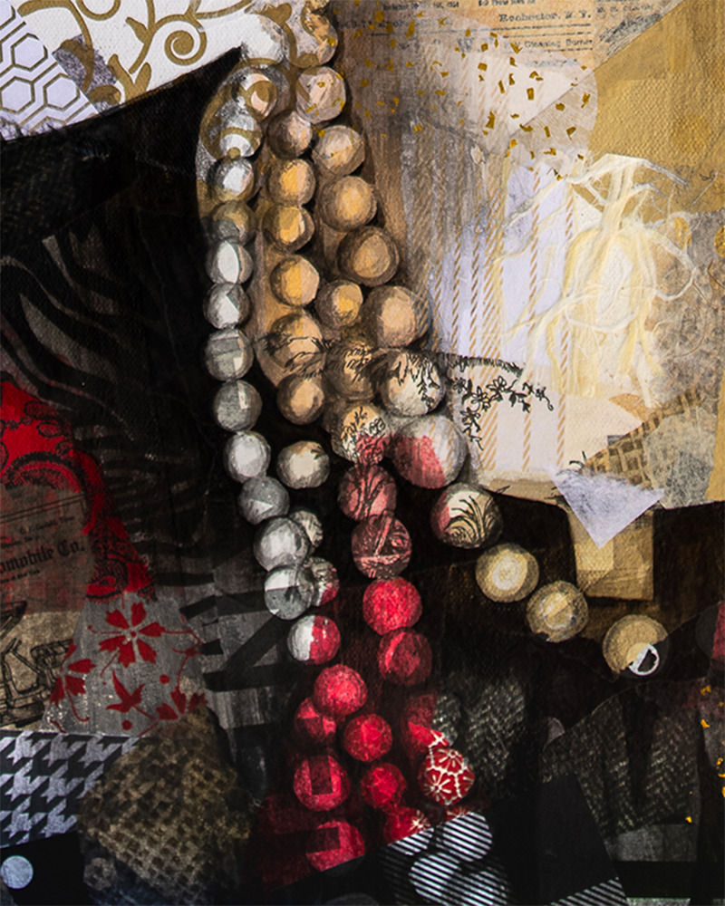 24x30 zabe arts chanel collage painting zoom collier