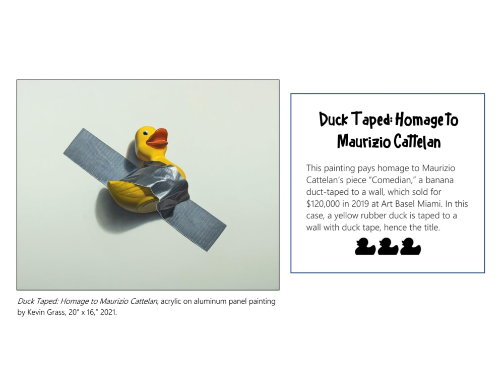 Duck Taped Homage to Maurizio Cattelan