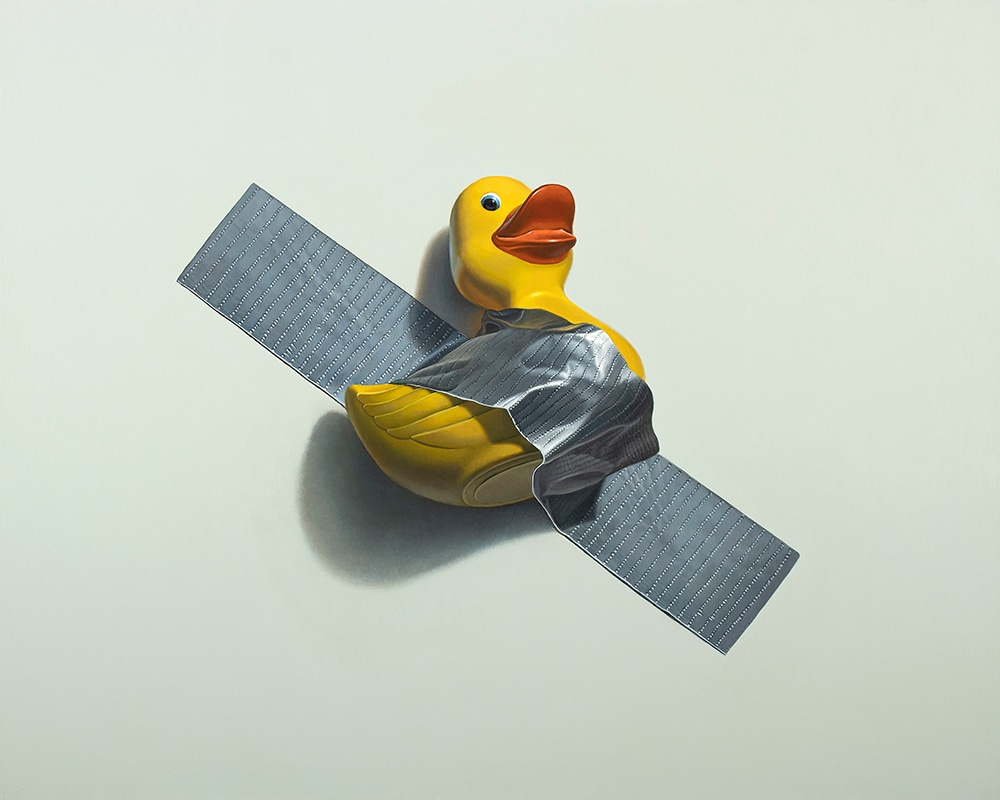 Kevin Grass Duck Taped Acrylic on aluminum panel painting