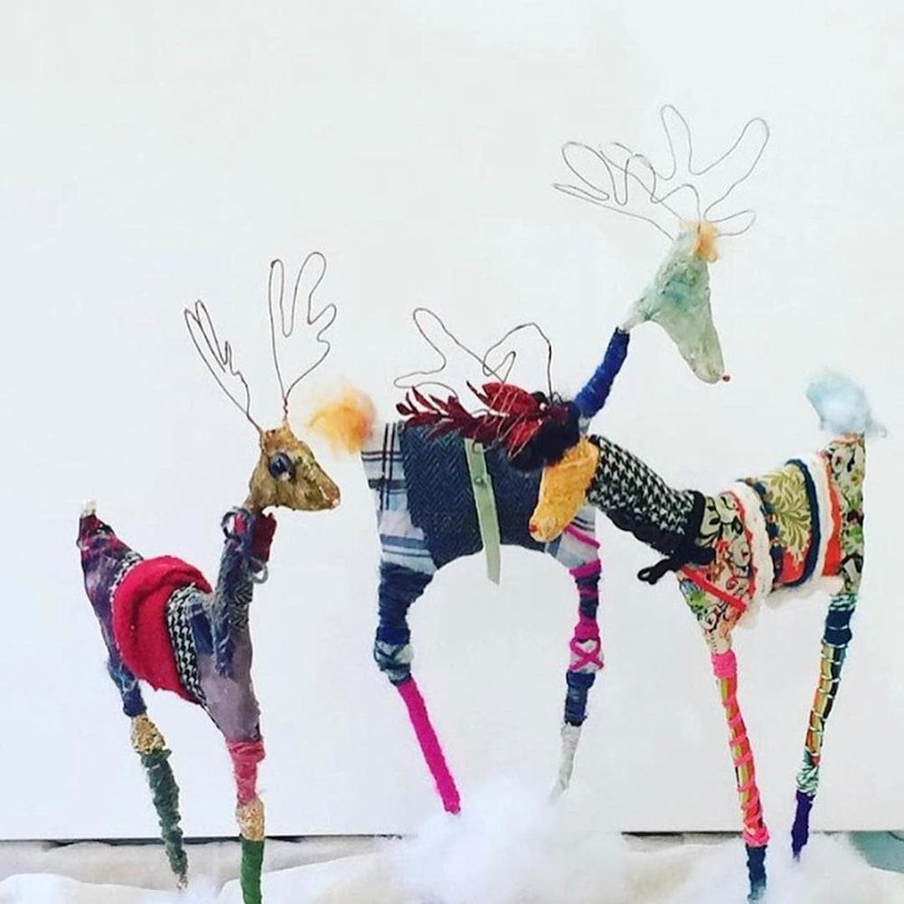 reindeer trio