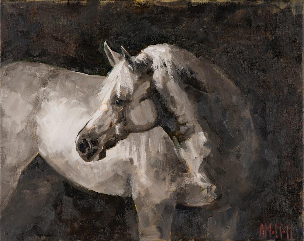 Original horse oil painting by April Moffatt