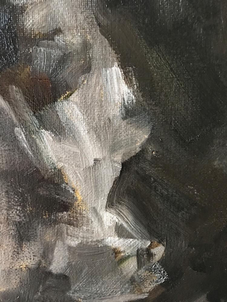 Original painting of Horse by artist April Moffatt close up horses neck