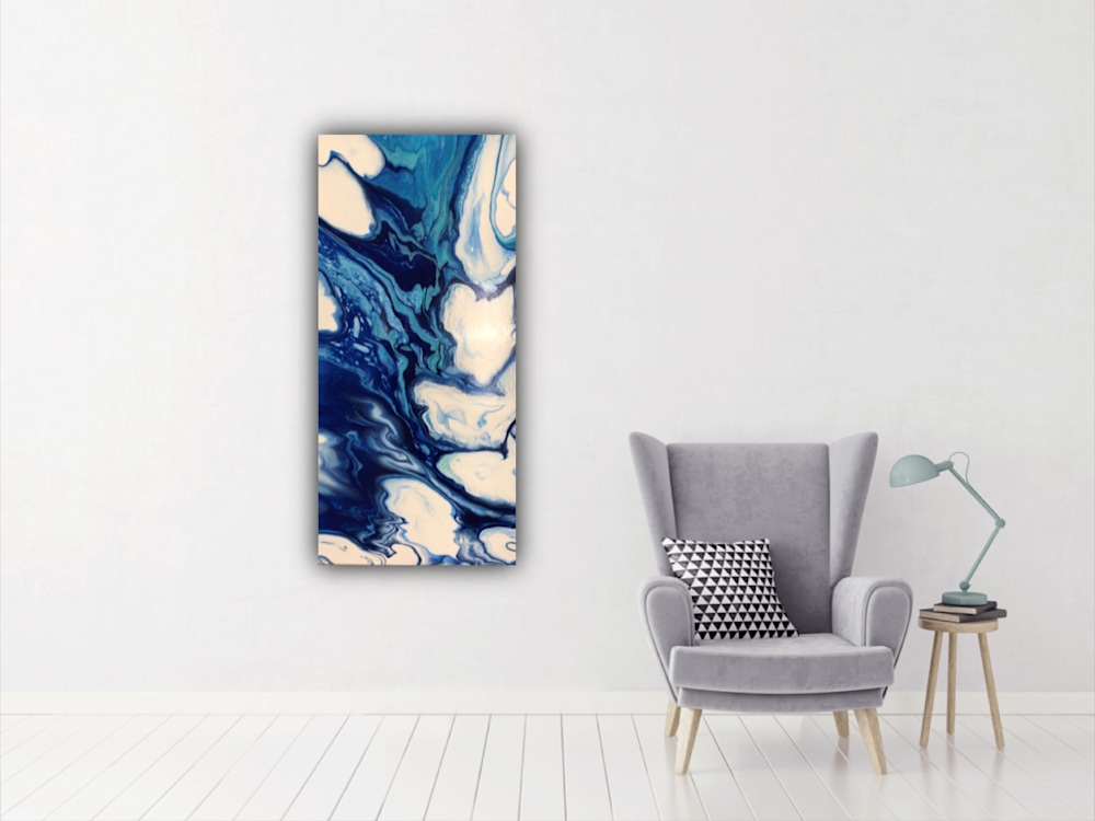 River Flows room setting 15 x 30 inches