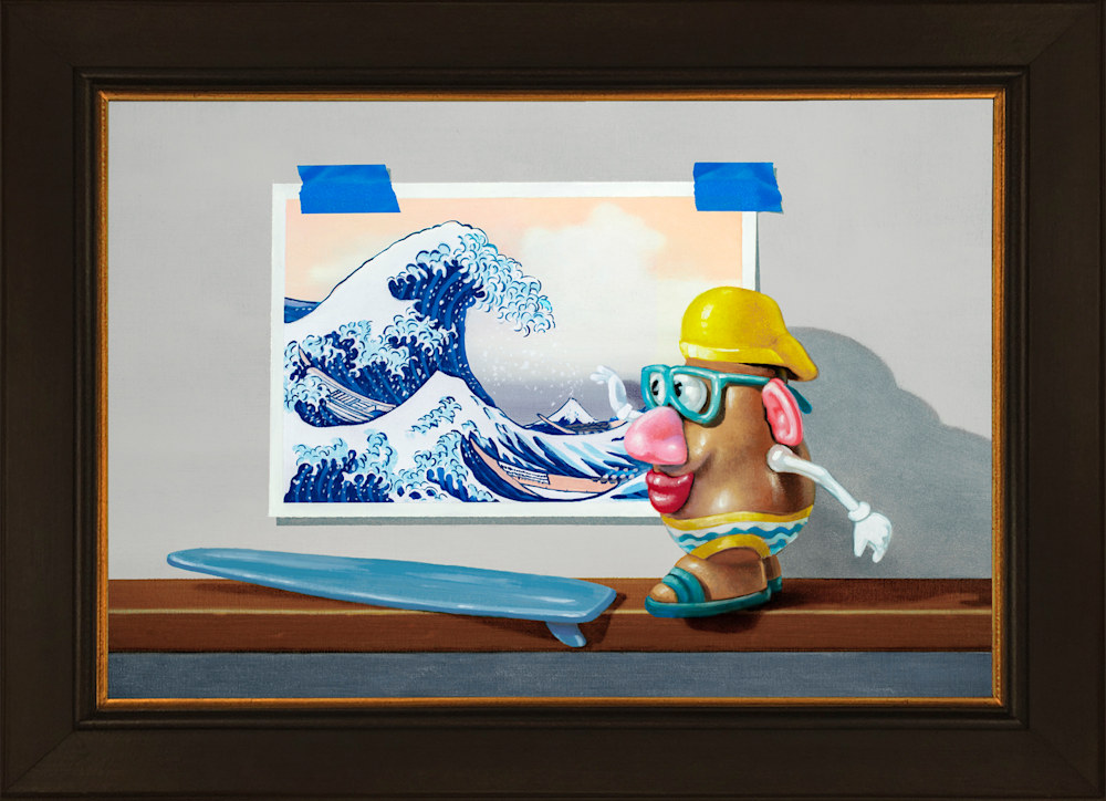 Catching the Great Wave Framed