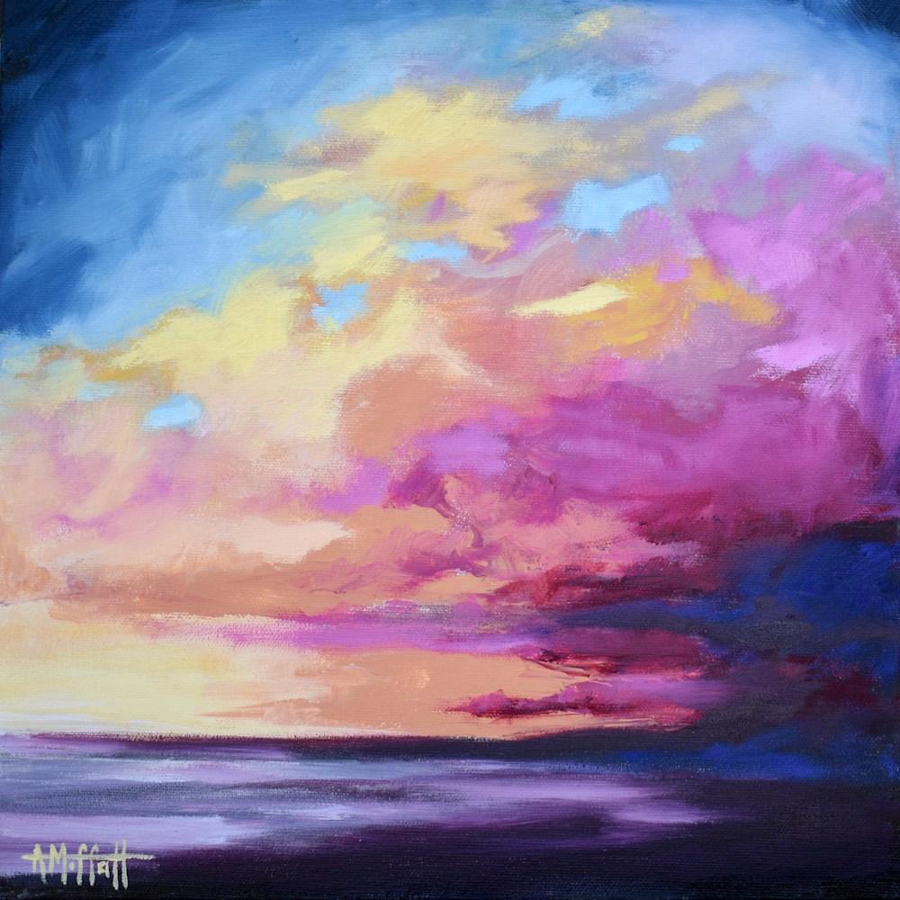 Beach sunset art painting