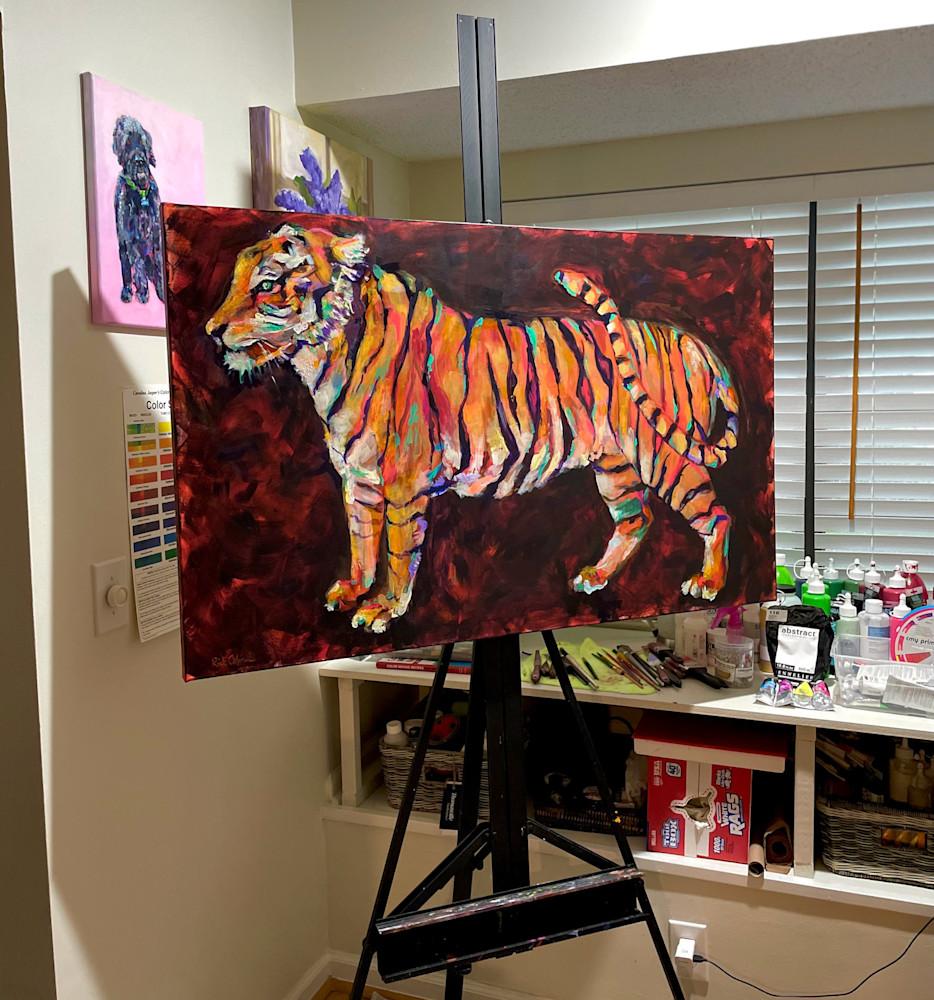 tiger easel