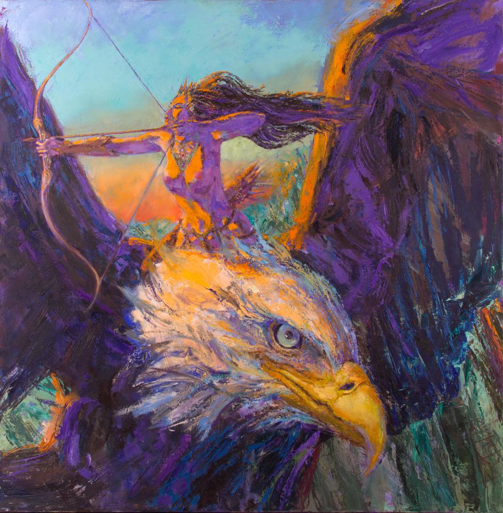 Huntress & Her Eagle 60
