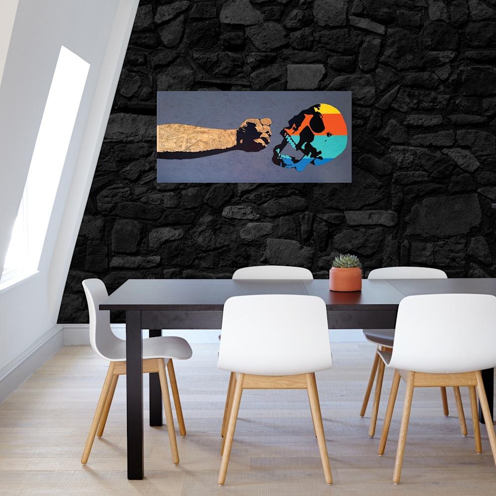 Fist & Skull on wall