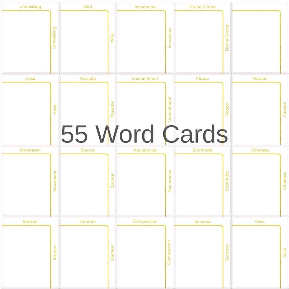 55 Word Card Samples