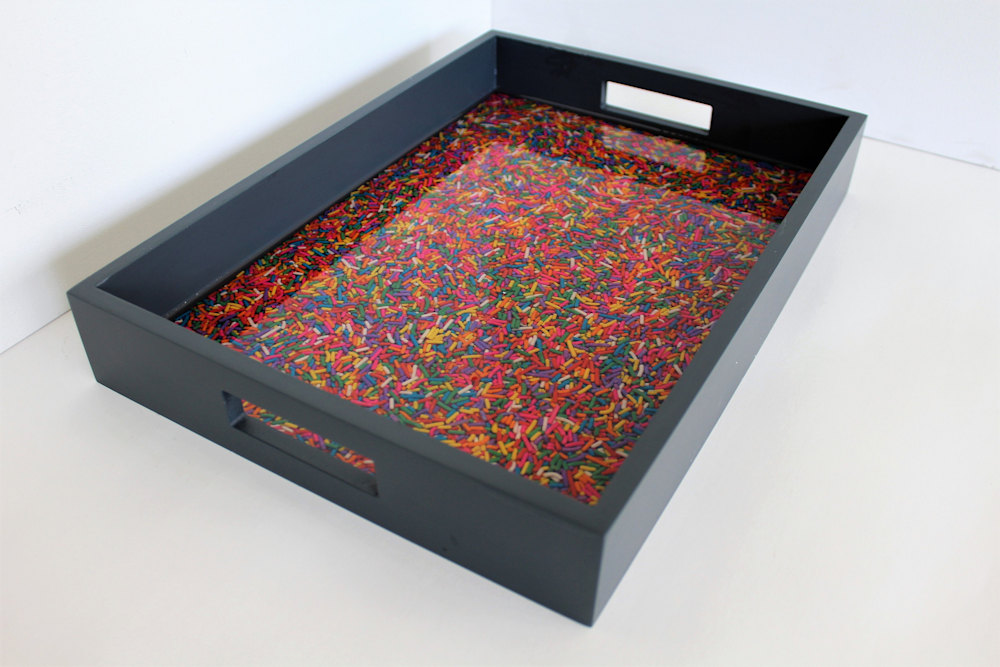 Sprinkles tray 14 x 10 side view