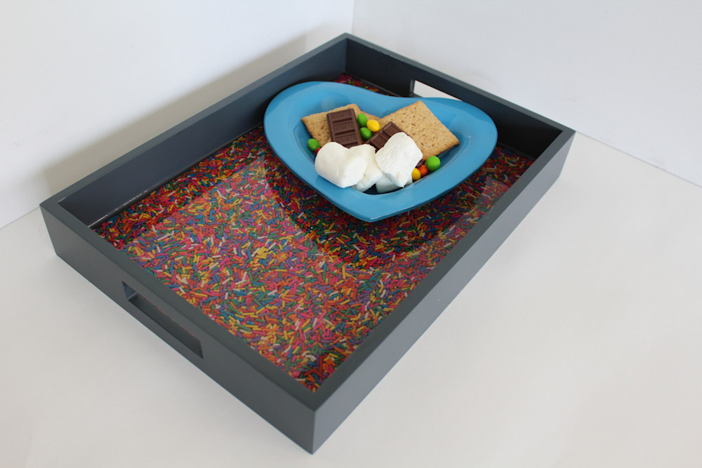 Sprinkles tray with food