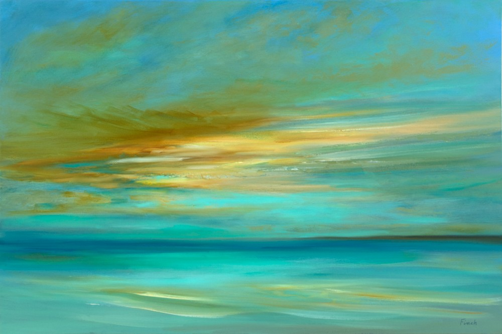4662 sunset on the island 24x36 oil sheilafinch