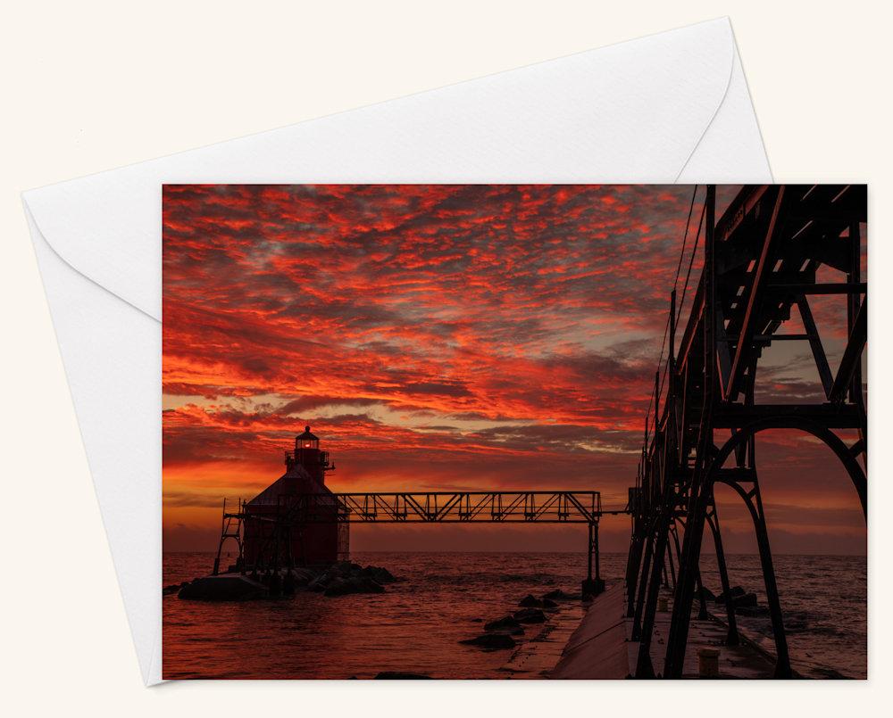 Blazing Skies  Card w Envelope