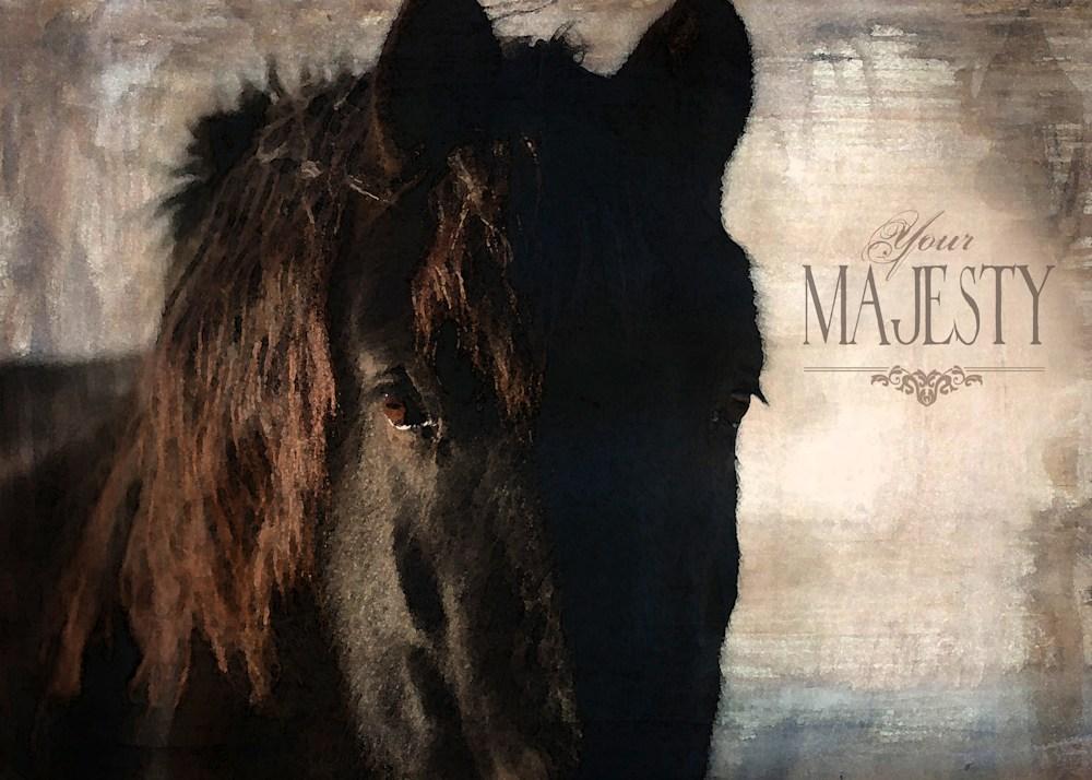 HORSE BLACK MAJESTY sml