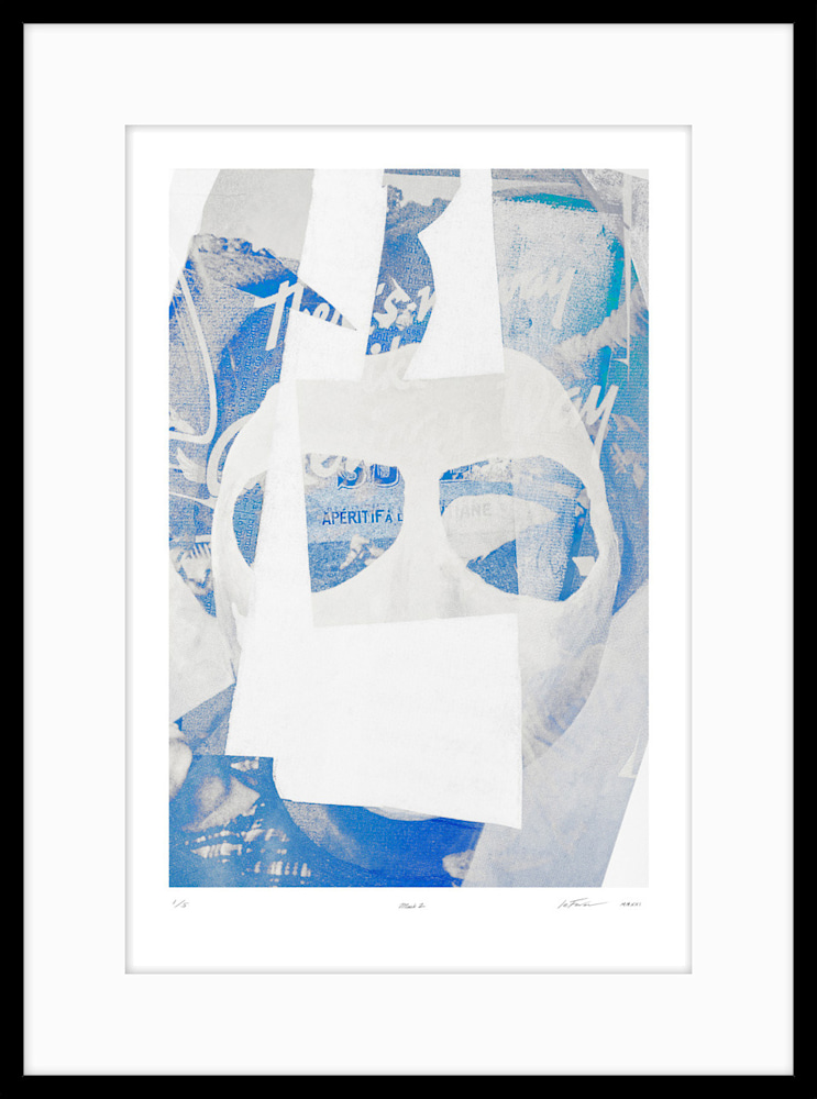(Limited Edition) Mask2 Black on white