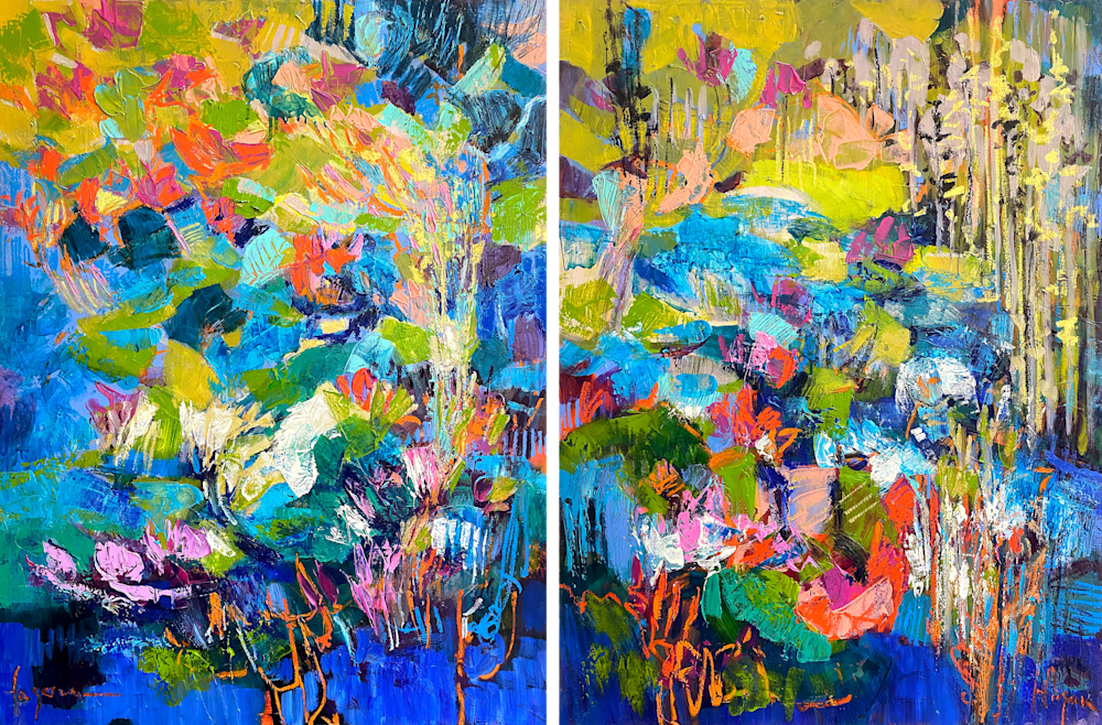 River Deliver Diptych 2400