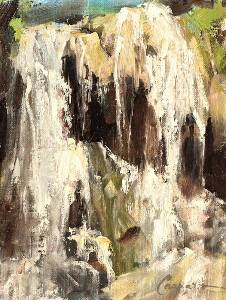The Falls, 9x12, Oil, 2021