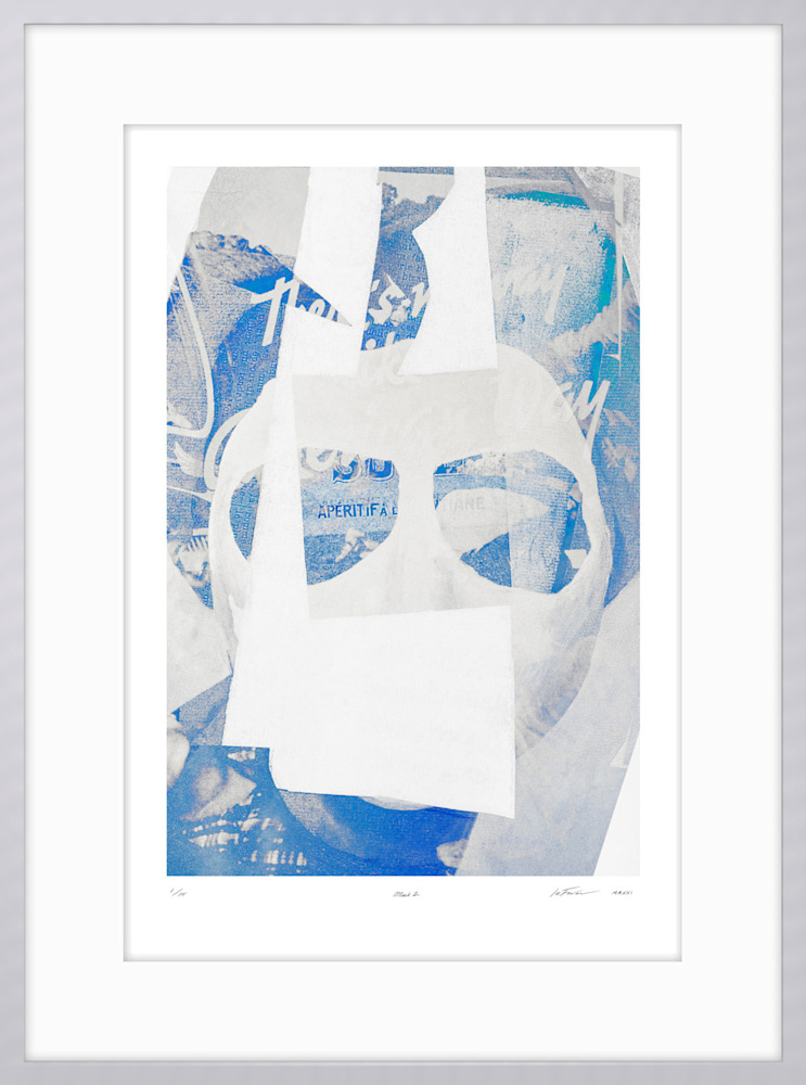 (Limited Edition) Mask2 Silver on white