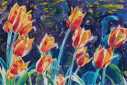Orange Tulips mono wC copy