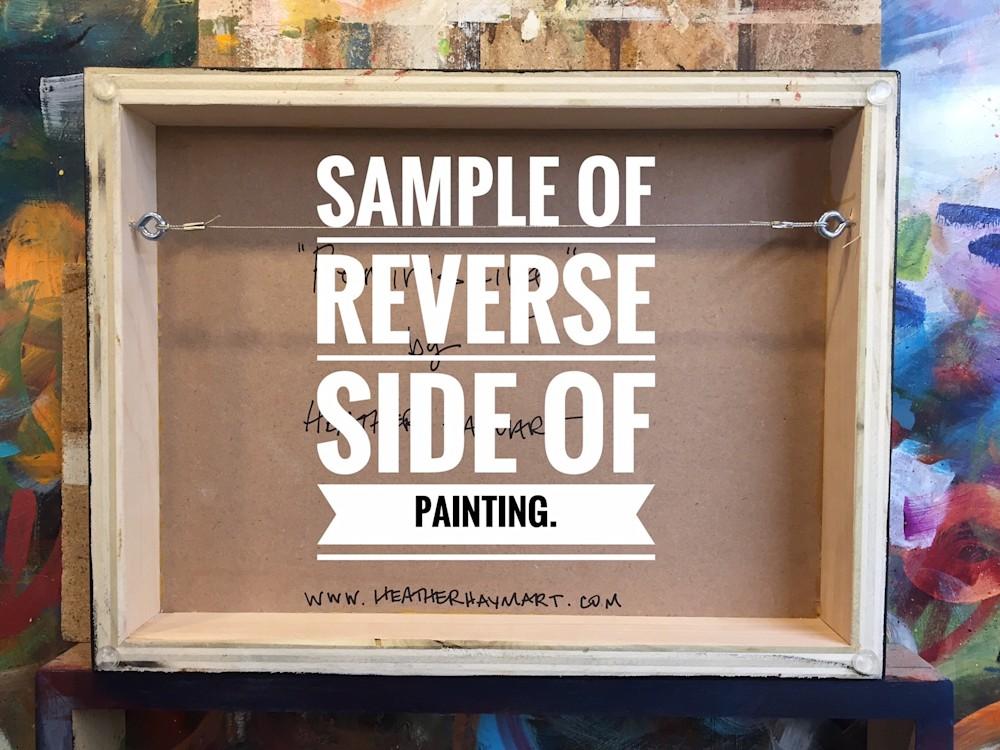 Sample of Reverse Side 12x16