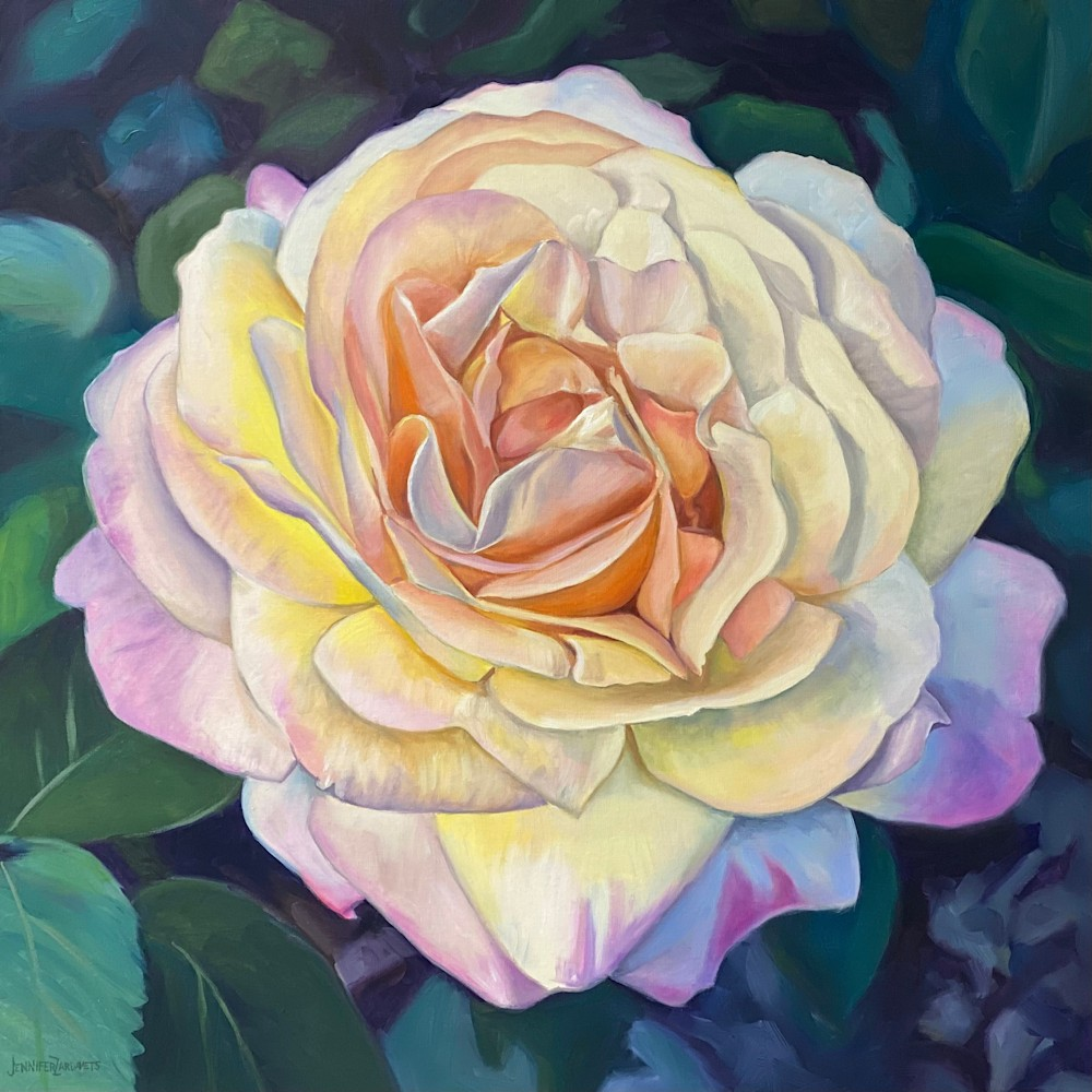 peace rose 30x30 signed