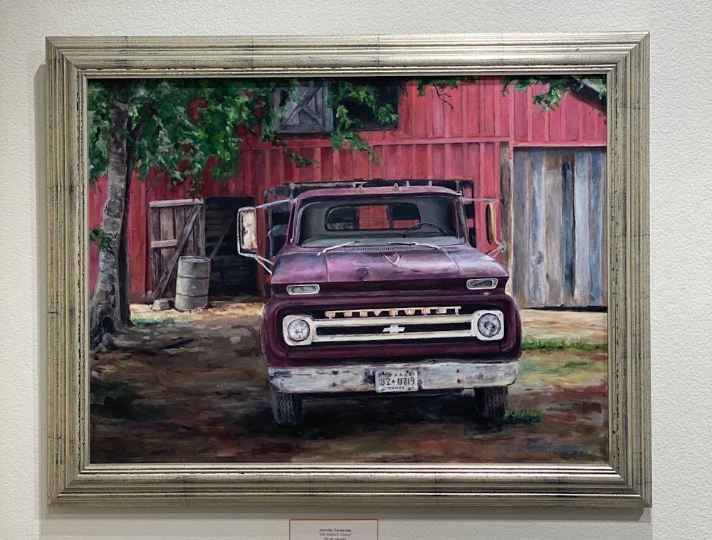 Vintage Chevy framed