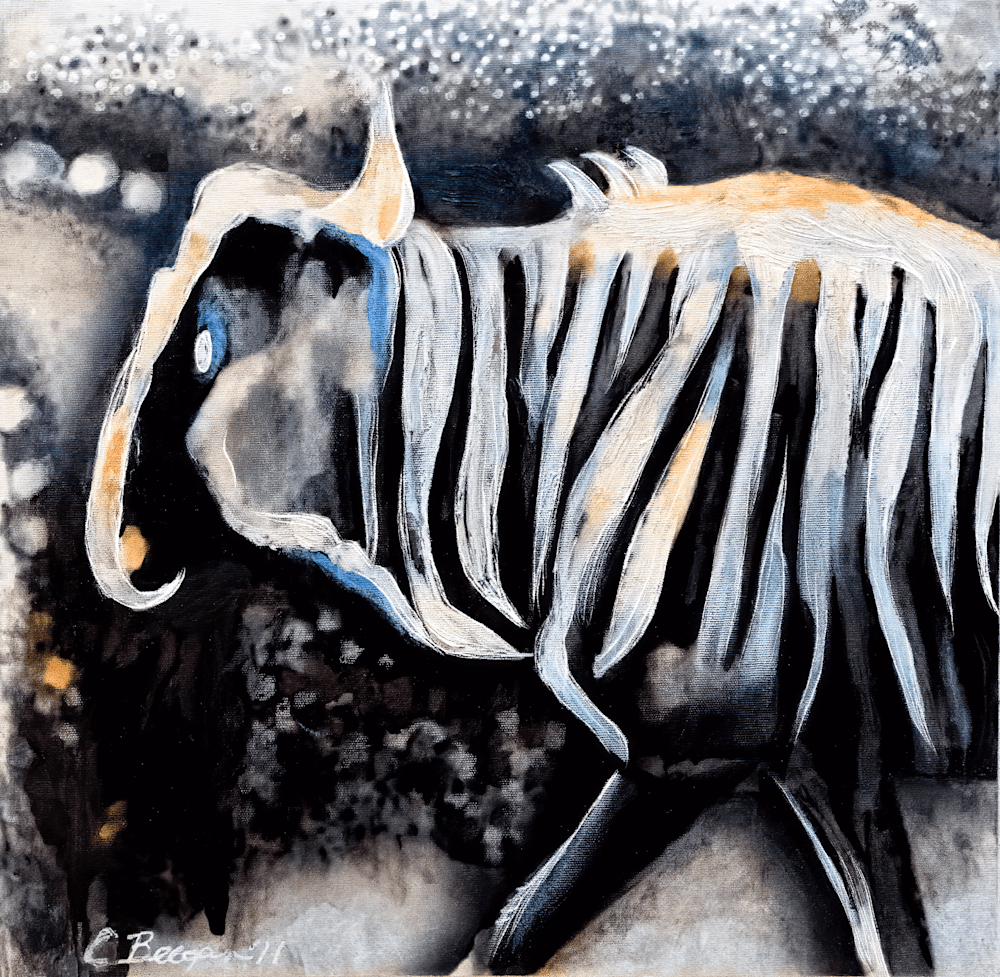 study for wildebeest no 2  DSC05885 denoise clear sharpen focus