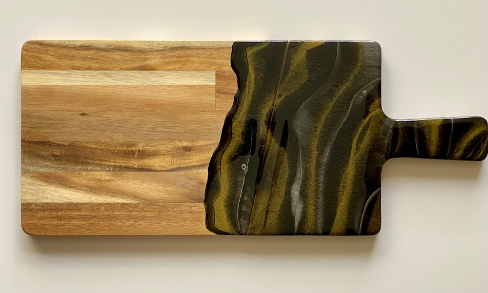 Black and Gold resin board