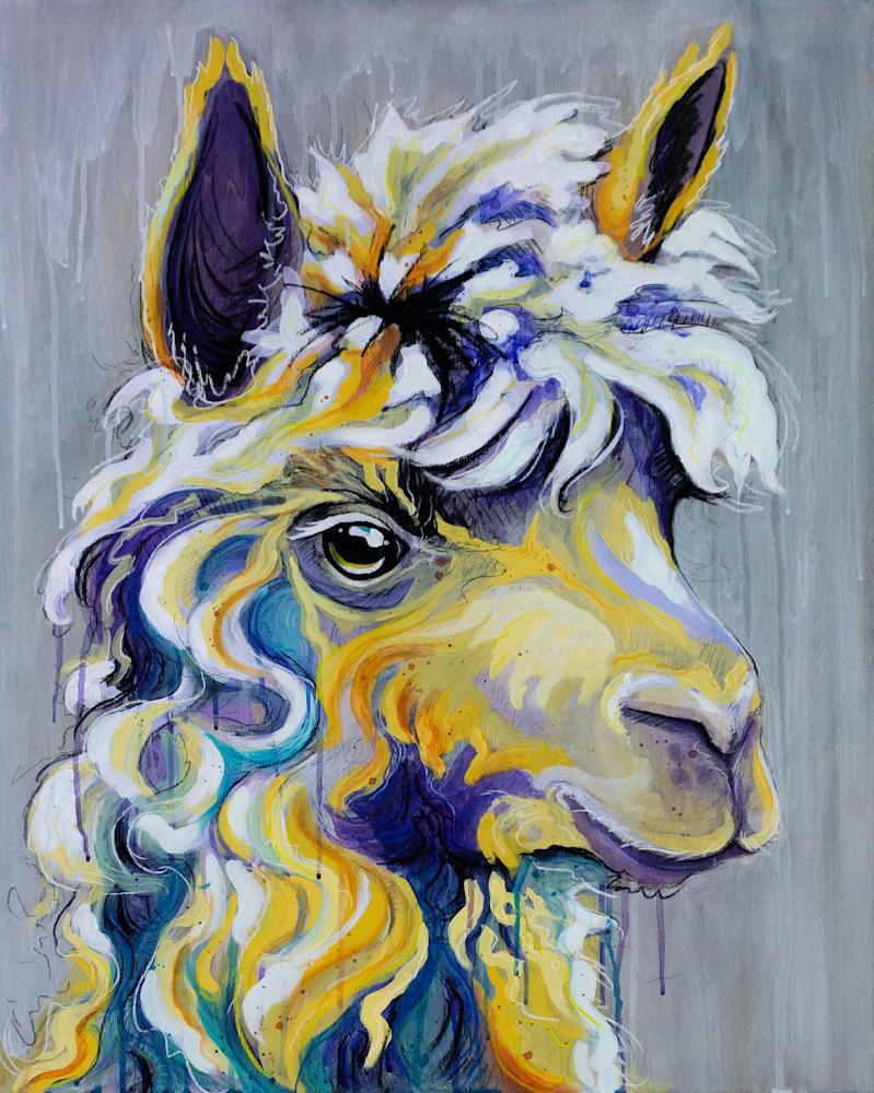 Colorful Alpaca Painting FINAL original
