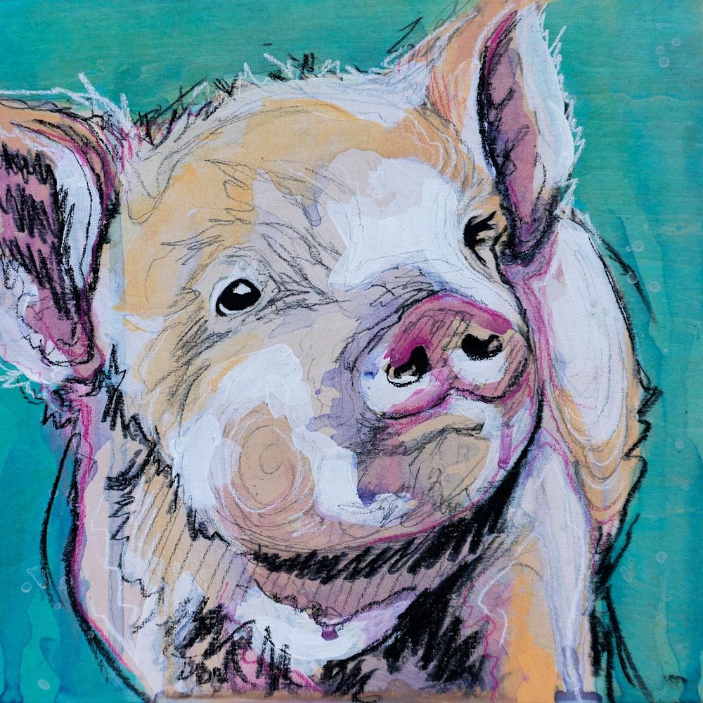 This Little Piggy Painting FINAL original