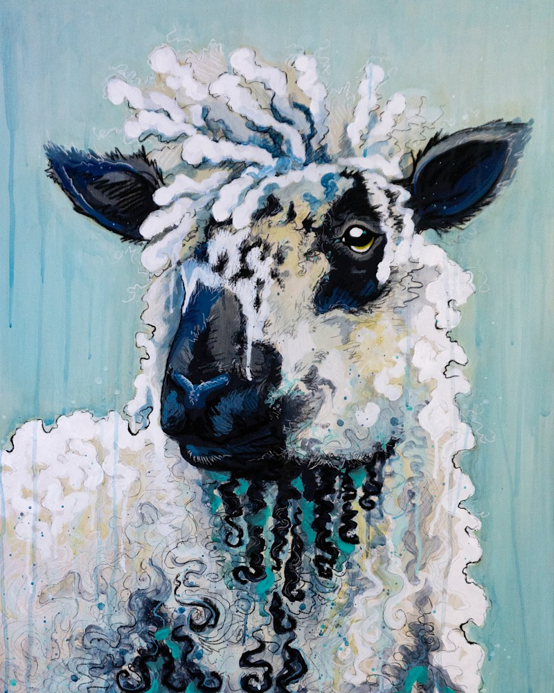Speckled Sheep Painting FINAL original2