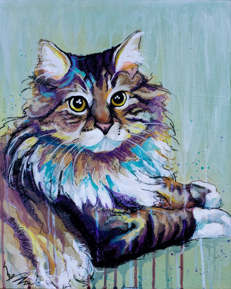 Colby Cat Painting FINAL original