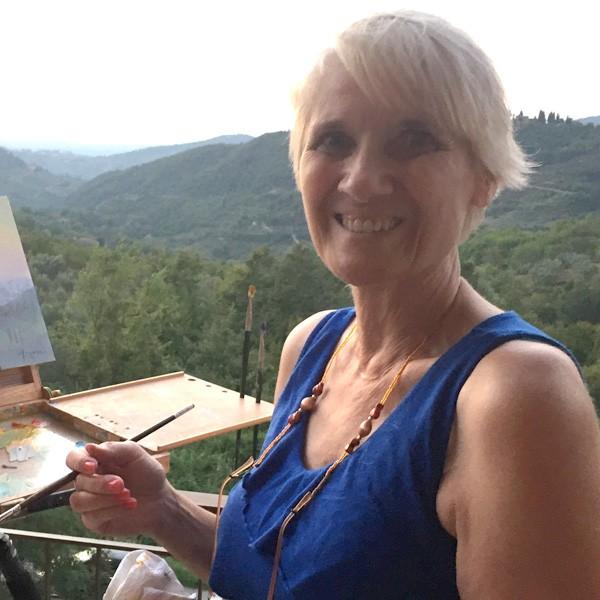 Dorothy Fagan paints plein air