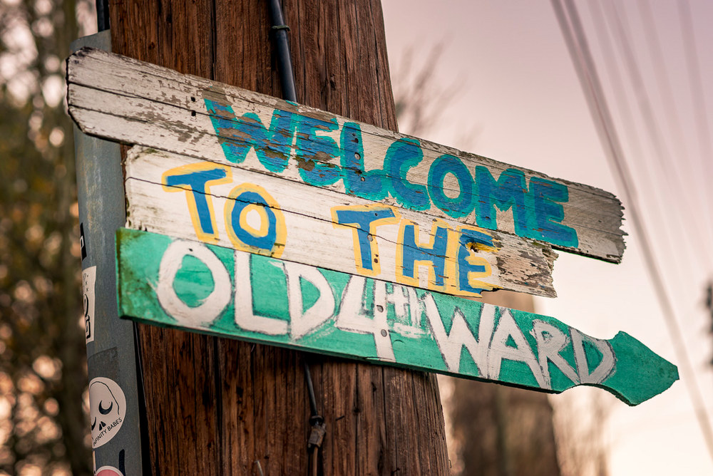 Old Fourth Ward sign in Atlanta, Georgia