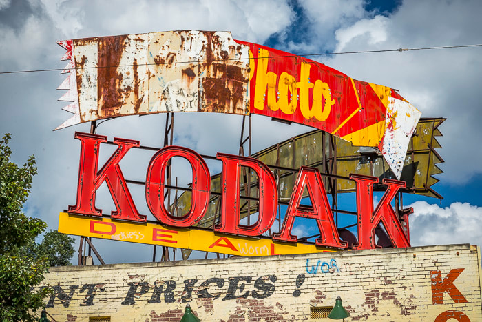 The old Kodak Sign in Atlanta on Ponce de Leon Ave.