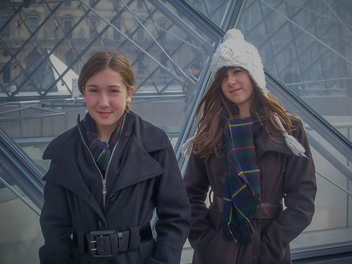 My girls at the Louvre