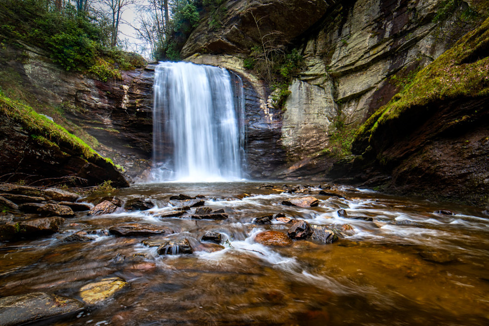 Looking glass Falls is located right off the highway outside of Brevard, N.C., and is simply beautiful.