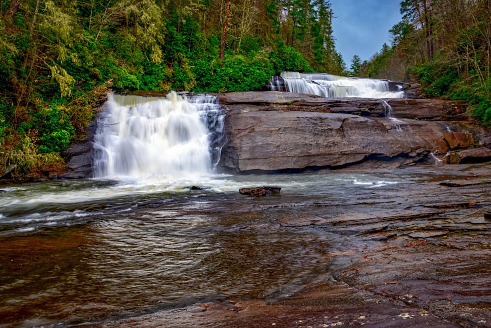 The upper two waterfalls in Triple Falls near Brevard, N.C., are just wonderful.